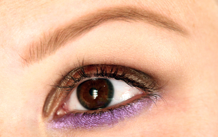 IMG 0533 Makeup tutorial: The look of the header with metallic brown and purple.