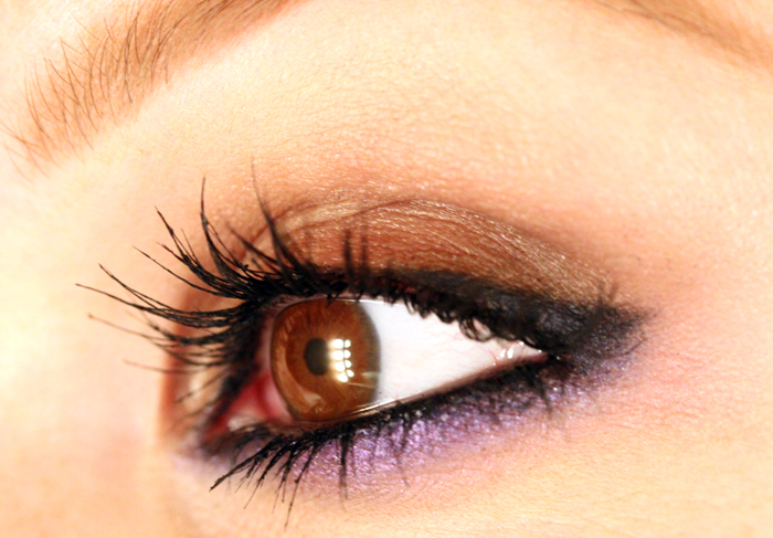 IMG 0557 Makeup tutorial: The look of the header with metallic brown and purple.