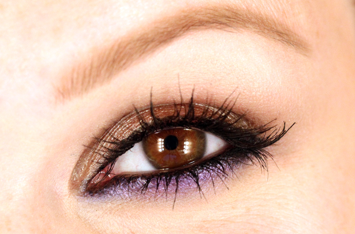 IMG 0569 Makeup tutorial: The look of the header with metallic brown and purple.