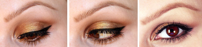 Untitled 14 Makeup Tutorial: Bronze with a sparkle of gold