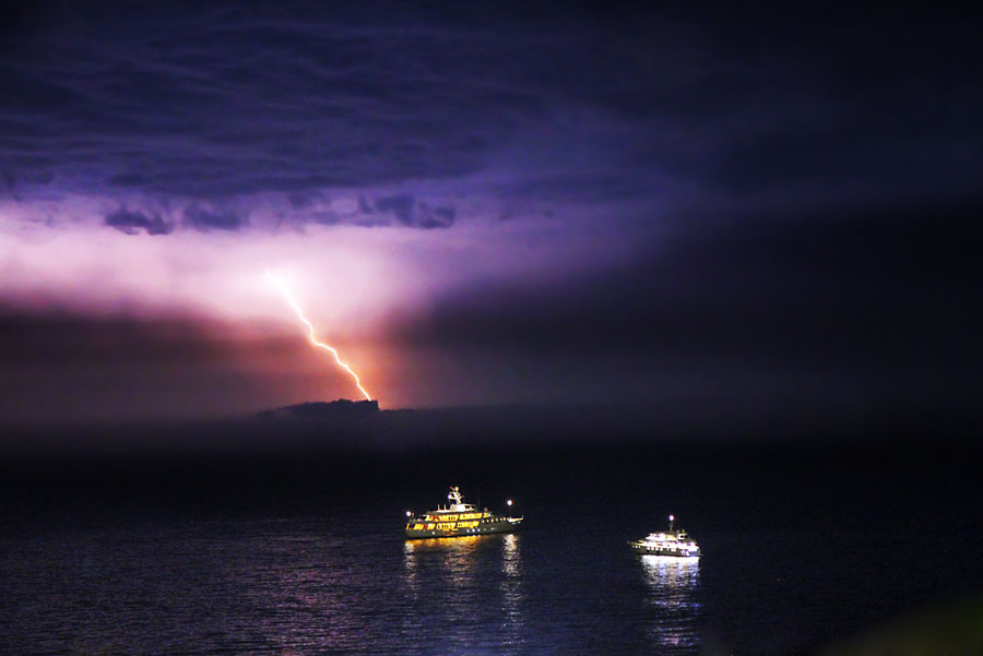 lightening Looks like Corsica is experiencing some bad weather
