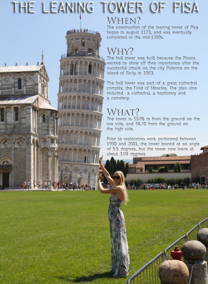 pisatower Pisa, Siena and Florence